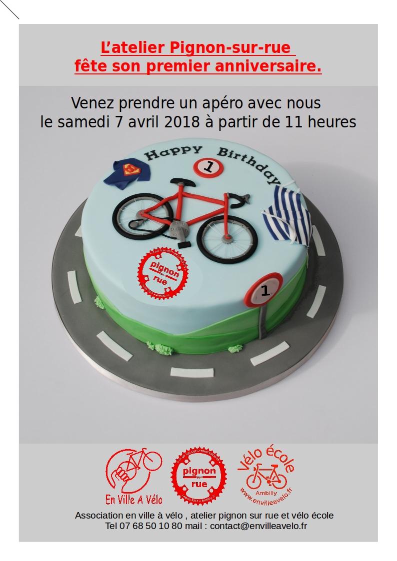 1er Anniversaire Association En Ville à Vélo Atelier Pignon Sur